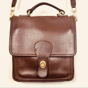 70's Vintage Leather Coach Top Handle Crossbody